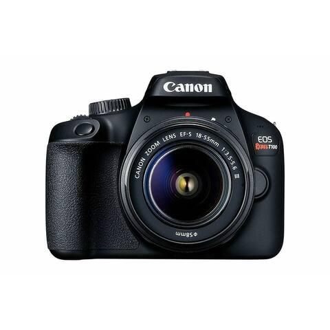 Canon EOS Rebel T100 DSLR Camera w/EF-S 18-55mm f/3.5-5.6 DC Lens - w/ 18-55 III