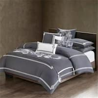 Natori NA11-3074 King Size Cotton Sateen Sham & Bed Skirt, Grey