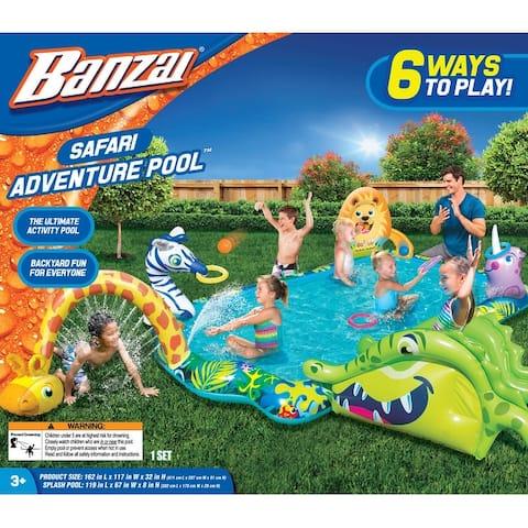 Banzai Safari Adventure Animals Pool - Orange