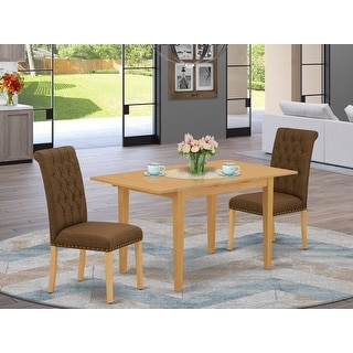 Link to Rectangle Table and Parson Chairs in Dark Coffee Linen Fabric (Number of Chairs Option) Similar Items in Dining Room & Bar Furniture