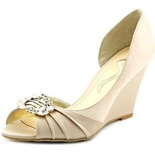 Nina Parley Women Open Toe Canvas Wedge Heel