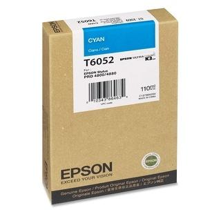 Epson T605200 UltraChrome K3 110ml Cyan Cartridge (T605200) - White