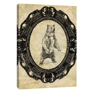 "PTM Images 9-105870  PTM Canvas Collection 10"" x 8"" - ""Framed Grizzly Bear"" Giclee Bears Art Print on Canvas"