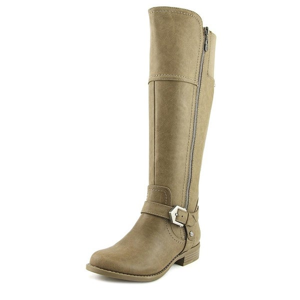 G By Guess Hailee Women Round Toe Synthetic Gray Knee High Boot