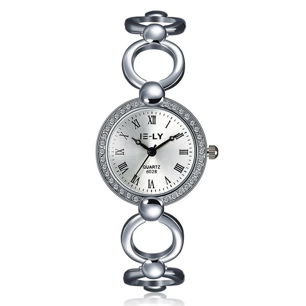 Laser Cut 18K White Gold Watch - Silver