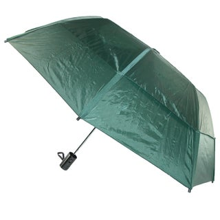 GustBuster Metro Solid Color Auto Open Vented Compact Umbrella (Option: Hunter green)