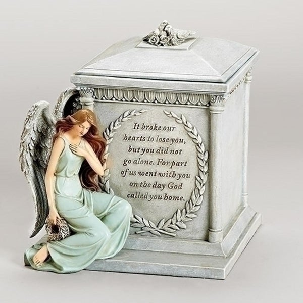 "8.5"" Religious Memorial Forever With The Angels Script Bereavement Urn - N/A"
