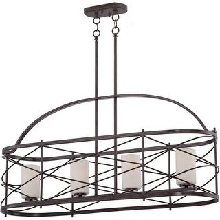 Nuvo Lighting 60/5338 Ginger 4 Light Large Linear Pendant in Old Bronze