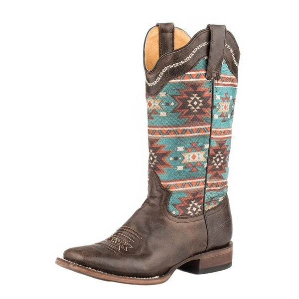 Roper Western Boots Womens Chelly Aztec Brown