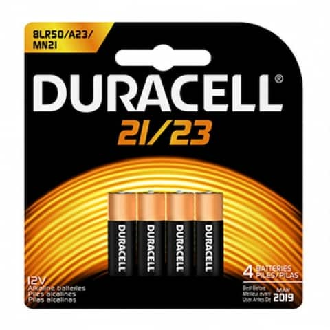 Duracell 65868 Alkaline Security Battery #MN21, 12-Volt, 4-Pack