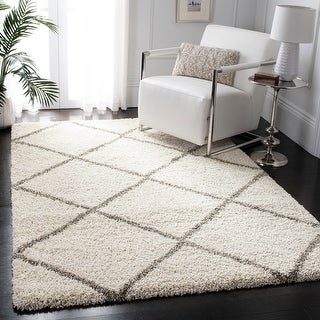 Link to Safavieh Hudson Shag Estella Diamond Trellis Rug Similar Items in Shag Rugs