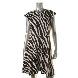 MICHAEL Michael Kors Womens Animal Print Zipper Party Dress - 6