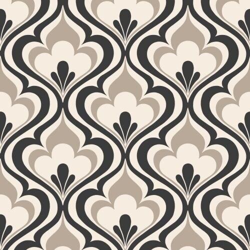Brewster 2535-20602 Lola Black Ogee Bargello Wallpaper
