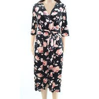 Monteau Velvet Floral Women's Plus Sheath Dress