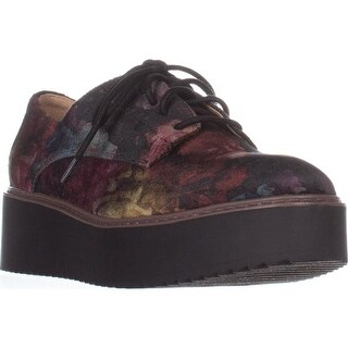 madden girl Written Platform Oxfords, Black Floral (2 options available)