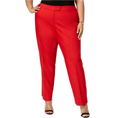 Anne Klein Womens Tab-Waist Dress Pants
