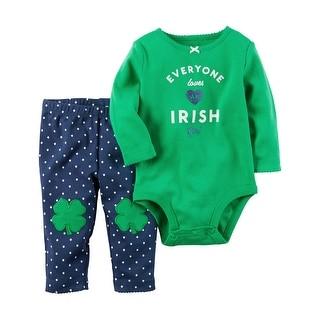 Carter's Baby Girls' 2 Piece St. Patrick's Day Bodysuit Pant Set (6 Months)