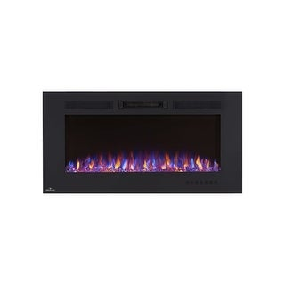 "Napoleon NEFL42FH  5000 BTU 42"" Wide Wall Mounted Electric Fireplace with Remote Control from the Allure Collection - Black"