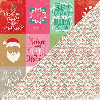 """#8 Cut-Apart 3""""X4"""" Cards - Colorful Christmas Double-Sided Cardstock 12""""X12"""""""