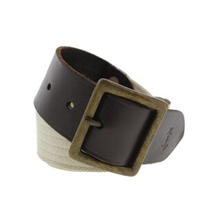 Polo Ralph Lauren Mens Casual Belt Canvas Leather Trim