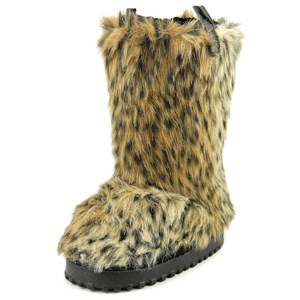 Guess Andorra Youth Round Toe Faux Fur Tan Winter Boot