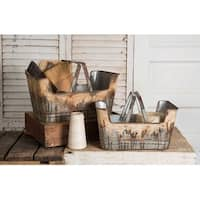 Set of Two Rustic Shopping Baskets