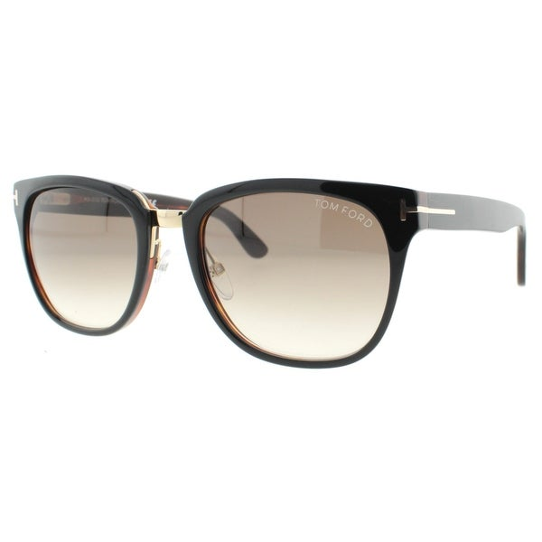 dde8849ce90 Tom Ford Rock TF 290 01F 55mm Dark Havana Brown Gradient Unisex Square  Sunglasses -