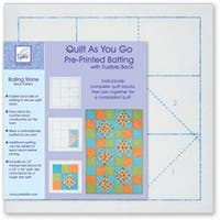Rolling Stone - Quilt As You Go Printed Quilt Blocks On Batting