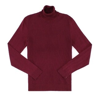 Alfani Red Mens Size Medium M Diamond Rib Knit Turtleneck Sweater