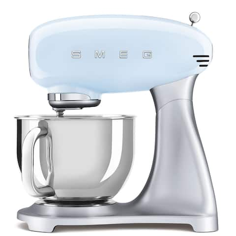 Smeg 50's Retro Style Aesthetic Stand Mixer, Pastel Blue