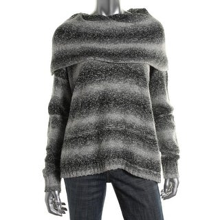 Kensie Womens Marled Long Sleeves Pullover Sweater - M