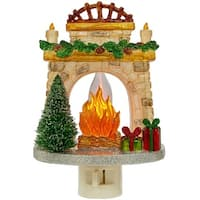 Christmas Fireplace Night Light