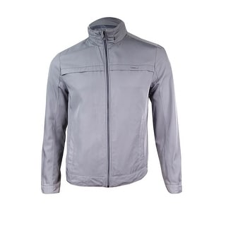Calvin Klein Men's Solid Twill Zip Jacket