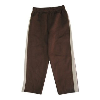Cartoon Network Little Boys Brown Side Stripe Scooby Doo Sweat Pants 4-7