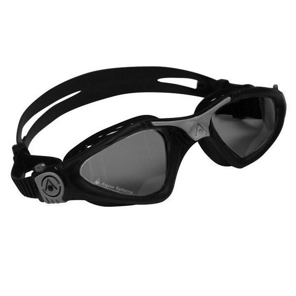 9ab21c4a6823 Shop Aqua Sphere Kayenne Smoke Lens Swim Goggles - Black Silver ...