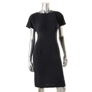 Lafayette 148 New York Womens Marion Crepe Cap Sleeves Wear to Work Dress