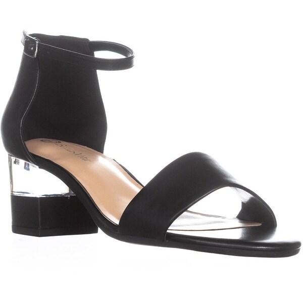 Bella Vita Fitz Heeled Ankle Strap Sandals, Black Leather - 11 ww us