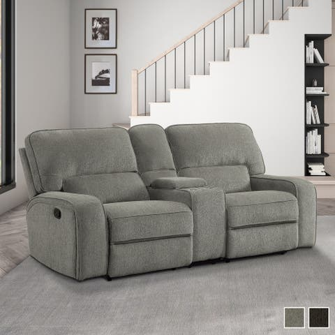 Eymard Double Reclining Loveseat with Console
