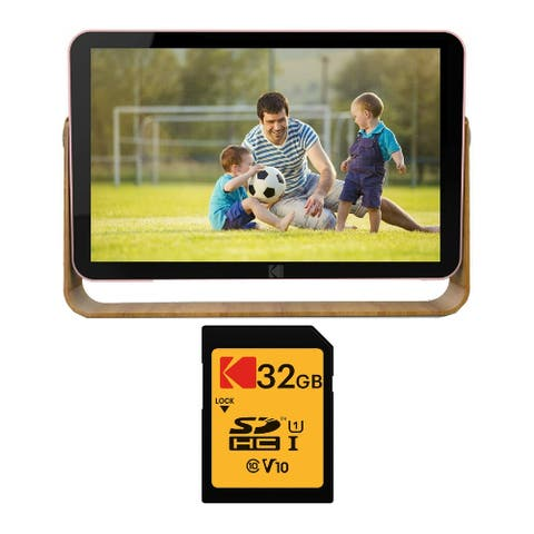 """Kodak 10-Inch Touch Rechargeable Wi-Fi Digital Picture Frame Bundle - 12.4"""" x 9.3"""" x 3.2"""""""