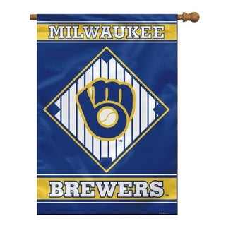 """""""Fremont Die Inc Milwaukee Brewers House Banner 1- Sided House Banner"""""""