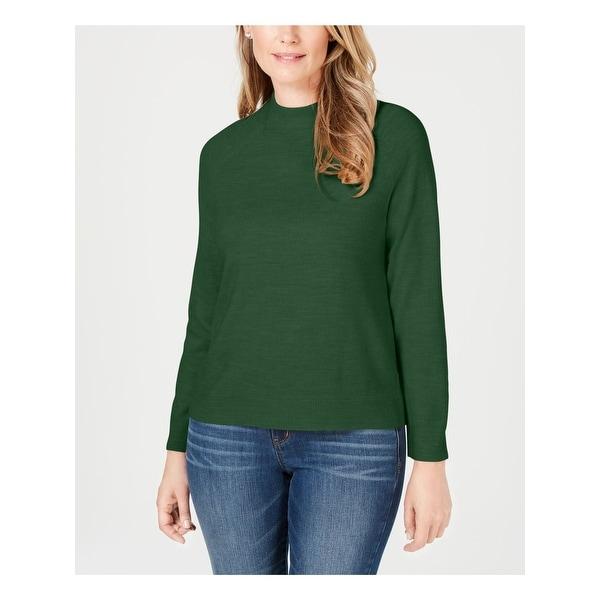KAREN SCOTT Womens Green Long Sleeve Crew Neck Sweater Size XS. Opens flyout.