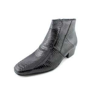 Giorgio Brutini Tuscon Men Round Toe Leather Black Ankle Boot