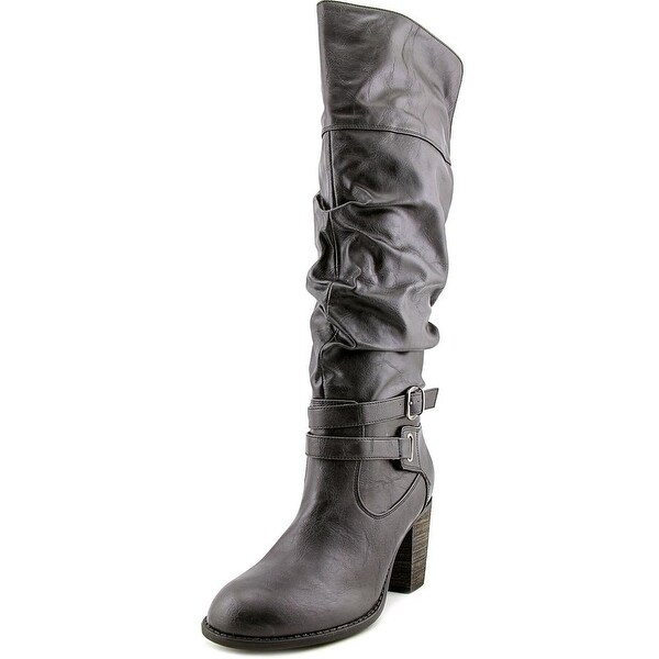 Diba Pilot Knee High Women Round Toe Synthetic Knee High Boot