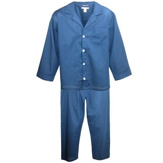 Geoffrey Beene Men's Big and Tall Long Sleeve Long Leg Pajama Set