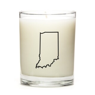 State Outline Candle, Premium Soy Wax, Indiana, Toasted Smores