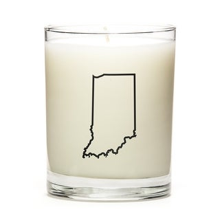 State Outline Soy Wax Candle, Indiana State, Peach Belini