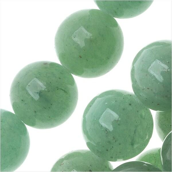 Aventurine Gemstone Beads, Round 9.5mm, 15.5 Inch Strand, Green