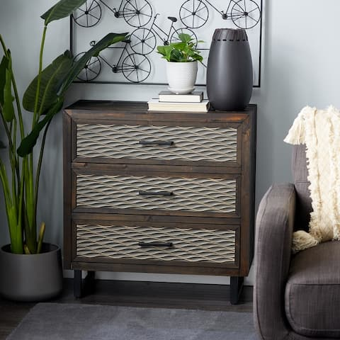 Brown MDF Contemporary Cabinet 32 x 30 x 14 - 30 x 14 x 32