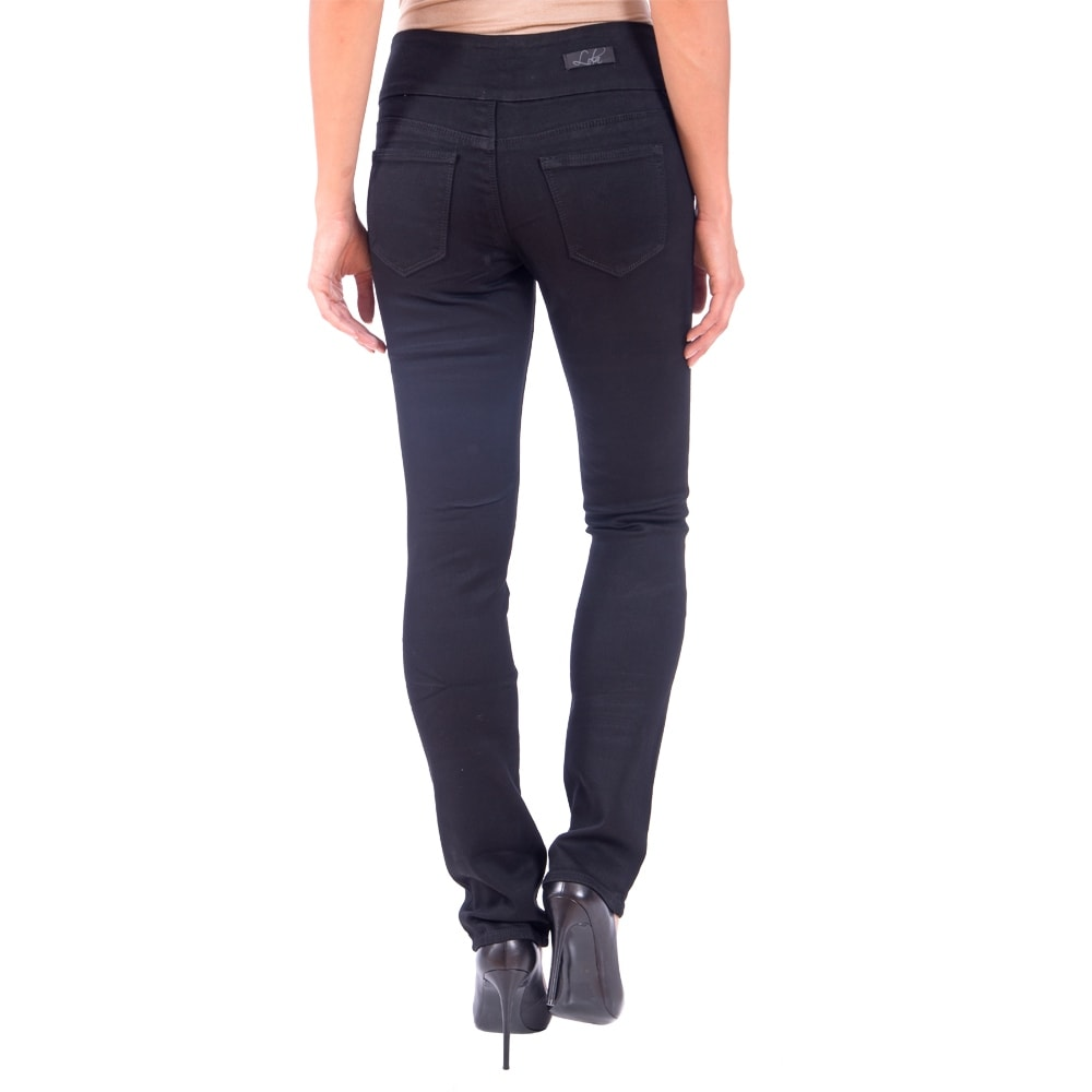 Lola Pull On Straight Jeans, Catherine-BLK - Thumbnail 1