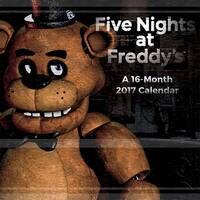 "Five Nights at Freddy's 2017 12""x12"" Wall Calendar - multi"